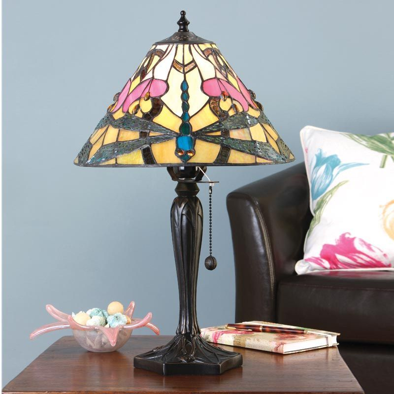 Ashton Small Table Lamp (Art Nouveau, Nature, Small Table Lamp) T022TS (Tiffany style)