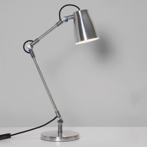 Atelier Desk Base 4562 Polished Aluminium Table Lamp