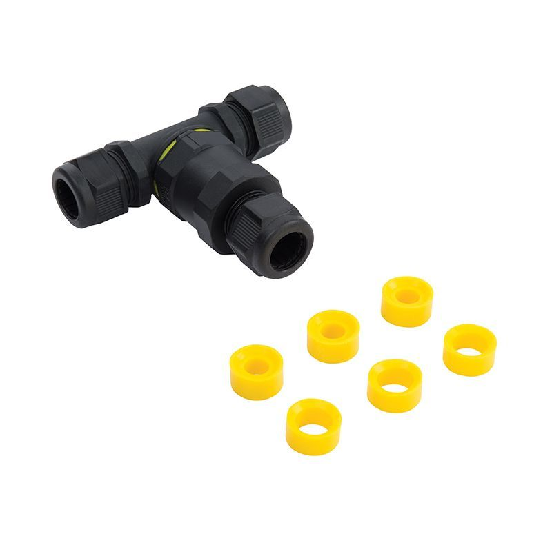 Black nylon Lighting Accessory Connector 61514 by Endon