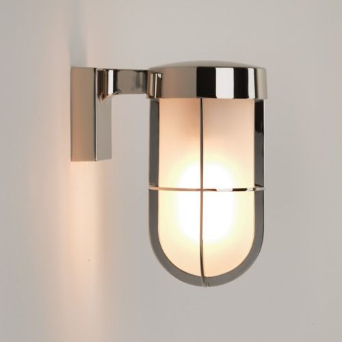 Cabin Frosted Wall 7848 Polished Nickel Wall Light