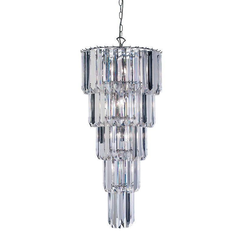 Chrome effect plate clear acrylic pendant light 61123 by endon aloadofball Image collections