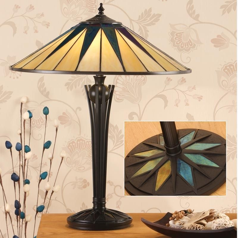 Dark Star Large Table Lamp (Art Deco, Large Table lamp) TG08 light (Tiffany style)