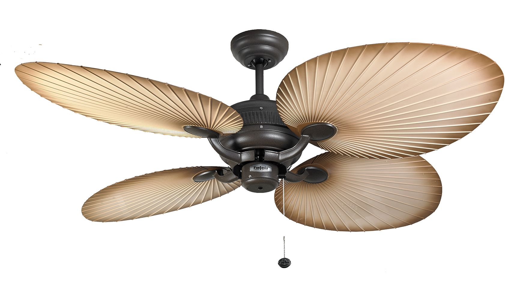 Fantasia Palm 52 Chocolate Brown Natural Acrylic Blade Ceiling Fan 111665