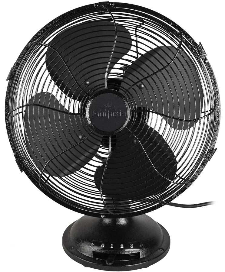 Fantasia Vintage desk fan Black 119630