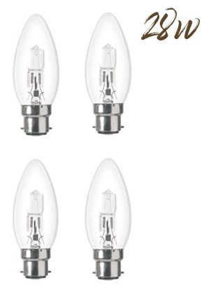 Halogen Energy saver BC Candle Lightbulb 28W (370 lumens) 4-Pack 800066