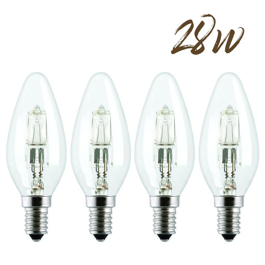 Halogen Energy saver SES Candle Lightbulb 28W (370 lumens) 4-Pack 802905