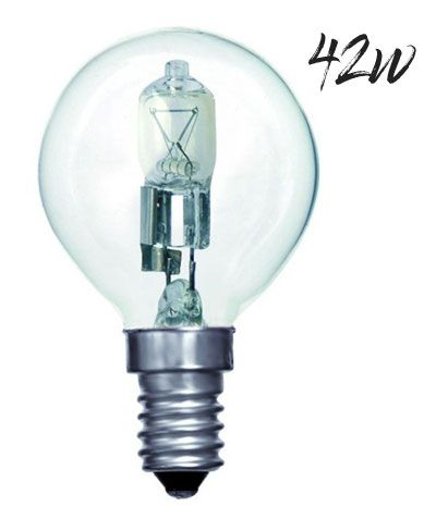Halogen Golfball Lightbulb 42W SES Warm White (630 lumens) 803634