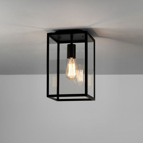 Homefield Ceiling 7956 Textured Black Ceiling Light