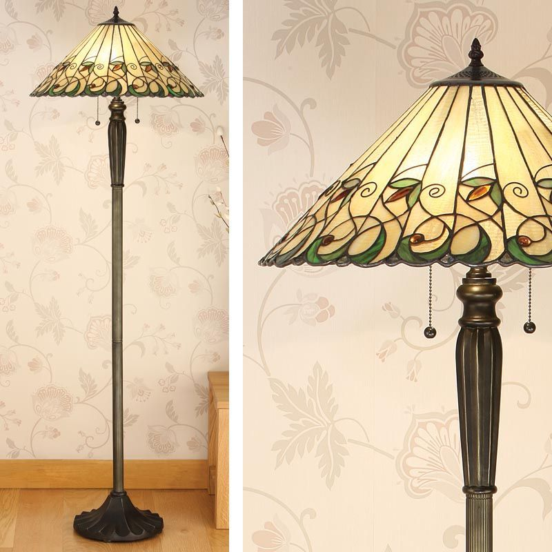 Jamelia Floor Lamp Art Nouveau Floor Lamp T095f Tiffany Style