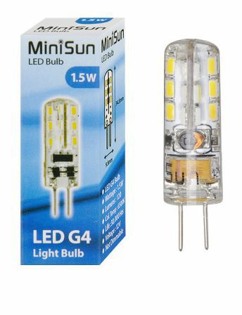 LED G4 Lightbulb 1.5W Cool White 6500K 120 Lumens