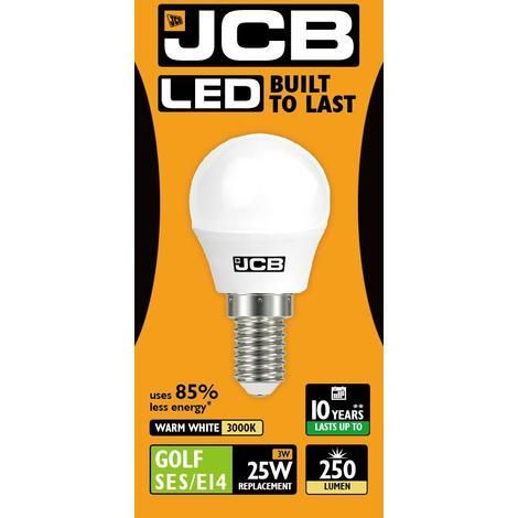 LED Golfball Lightbulb 3W SES Warm White (250 lumens)