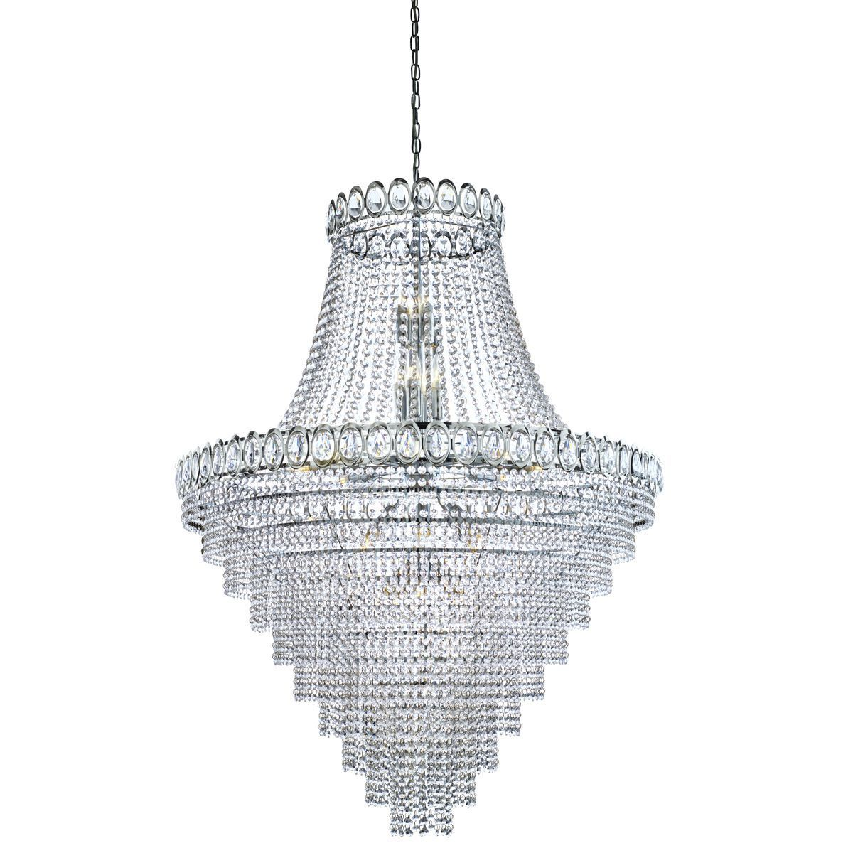 Louis Philipe Crystal - 28 Light Tiered Chandelier Clear Crystal ...