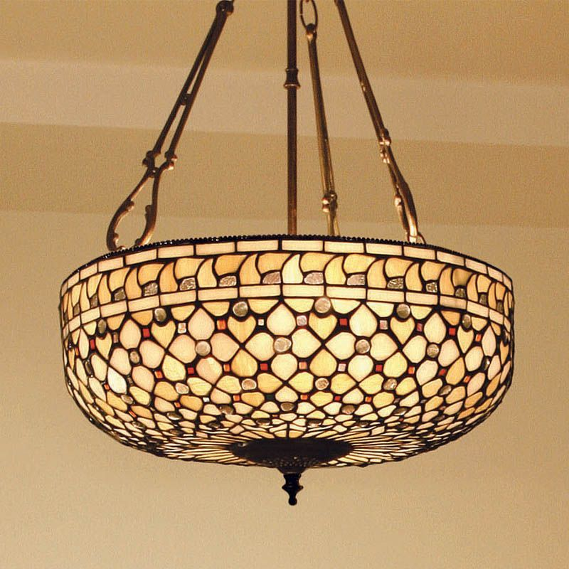 glass beautiful light shade tiffany pendant antique chandelier stained lamps top creativity style small lamp