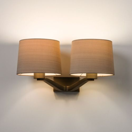 Montclair Twin 7479 Bronze Wall Light (light shade sold separately)
