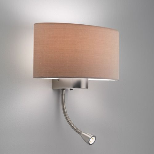 Napoli LED 882 Matt Nickel Reading Light (light shade sold separately, LED)