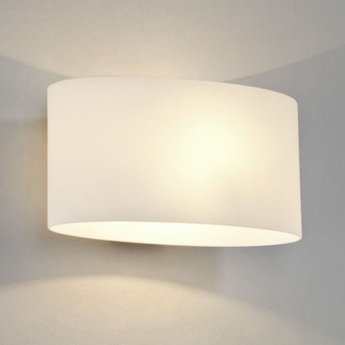 Tokyo 472 White Glass Wall Light (light shade included)
