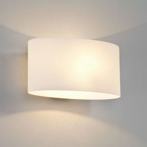 Tokyo Classic 966 White Glass Wall Light (light shade included)
